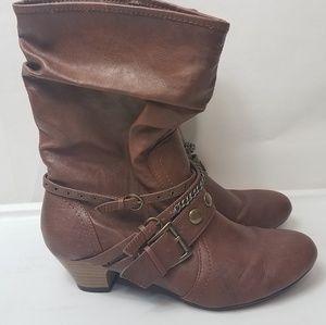 Decree brown belt boots size 8